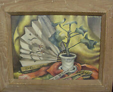 1941 Vernon Good PA Modernist Asian Chinese Japanese Subject Still Life Painting