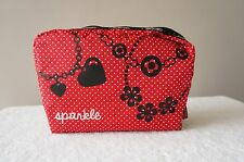 AUTH LeSportsac PURSE 7121 XL Rectangular Cosmetic Pouch Case Bag Sparkle