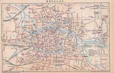 BRESLAU Wroclaw Brassel Niederschlesien STADPLAN von 1896 Sand Vorstadt