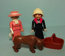 Playmobil Puppenhaus / Dollhouse ~ Lady, Maid & Dog / Dame, Magd & Hund (5500)