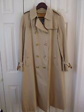 Vintage BURBERRYS' Classic Trench Coat 14 Long Nova Check Plaid Wool Lining