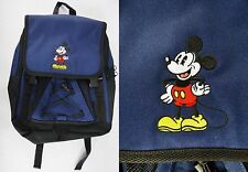 Walt Disney World Embroidered Mickey Mouse Navy Blue Book Bag School Student