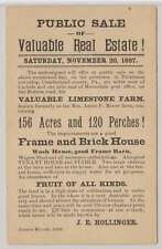 C5535: US #UX12 on 1897 Real Estate Advertising Card