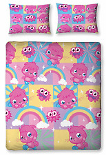 MOSHI MONSTERS POPPET GIRLS DOUBLE DUVET QUILT COVER BEDDING SET PILLOWCASE KIDS