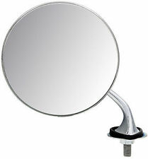 MG T-TYPE CHROME ROUND EXTERIOR WING MIRROR L/H WM1907 N/S FLAT GLASS 4E5