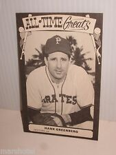 TCMA ALL-TIME GREATS 1973 VINTAGE PHOTO STYLE BASEBALL CARD HANK GREENBERG