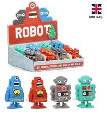 Kids Clockwork Wind Up ROBOT Birthday Christmas Stocking Filler Toy Party Gift
