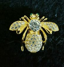 Rare Joan Rivers April Birthstone Bee Pin With Large Main Stone