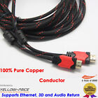 8M HDMI Cable V1.4 3D Super Speed w/ Ethernet HEC Full HD 1080p Gold Plated AU