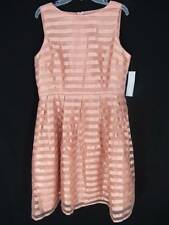 NEW London Time Dress Size 16 Blush Pink Striped Formal Flared Full A Line Flare