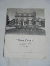 1955 CHERRY ORCHARD LANGLEY NR STRATFORD ON AVON  AUCTION PARTICULARS CATALOGUE