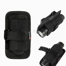 Nylon Holster Holder Case Belt 360° Clip Pouch For LED Flashlight Torch