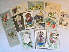 EASTER GREETINGS PRE-LINEN POSTCARD LOT MANY EMBOSSED 1907 UP MOST  100 YRS OLDd