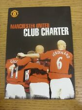 2003 Manchester United: Club Charter, Official Publication, Fold Out Style. Cond