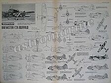 BREWSTER F2A BUFFALO - Warpaint 1.72 Scale PLAN Drawings Aviation News July 1979
