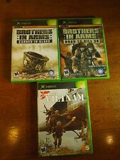 Lot of 3 XBox Games Conflict Vietnam Brothers in Arms Road to Hill 30 / Earned