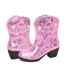girl's pink metallic cowboy boots NEW - size 3-4 youth