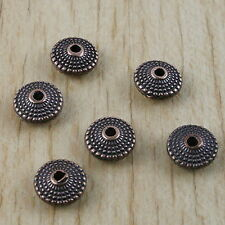 25pcs copper-tone oblate spacer beads h2911