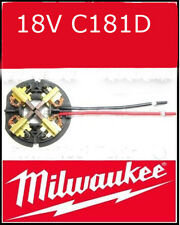 Milwaukee Reemplazo 18v Carbon Brush Brochas Anillo Mw1