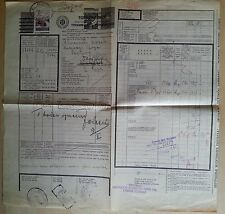 Serbia occup. Germany WW2 waybill revenues mixed with Yugoslavia motor vehicle