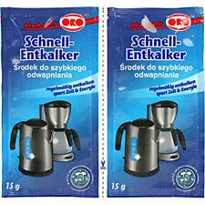ORO fix Schnell-Entkalker Pulver Entkalkung für Wasserkocher Tab Kaffeemaschinen