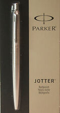Parker Jotter Brushed Stainless Steel Ballpoint Pen -Black Ink-  Made in France