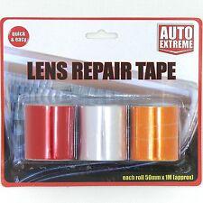 3 Funciones Auto Lente Luz indicadores Trasera Frontal reparación Cinta Roja amber/orange Claro