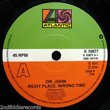 DR. JOHN-Right Place, Wrong Time-Such A Night-Rare UK Import 45-ATLANTIC #K10877