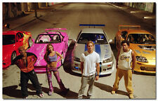 Fast and Furious Paul Walker Movie Art Silk Fabric Wall Poster 24x36 inch