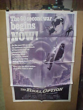 THE FINAL OPTION, nr mint orig 1-sh / movie poster [Judy Davis, Richard Widmark]