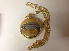 Citroen Ami 6 ref42 pewter effect emblem gold quartz pocket watch