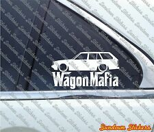 Lowered WAGON MAFIA sticker - for Toyota Corolla KE70 AE71 (1979-1981)