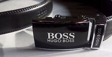 Hugo Boss Leather Belt  Black Automatic Buckle