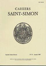 CAHIERS SAINT-SIMON - N° 15 - ANNÉE 1987 -