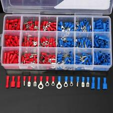 360Pcs Assorted Electrical Wire Terminal Crimp Insulated Spade Connector Set Box