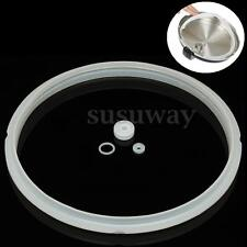 22cm Inner Dia Clear Rubber Pressure Cooker Seal Sealing Ring Gasket WhiteRubber