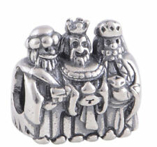 chrismas silver 3 wise men kings charm charms slide pd european xmas stocking UK