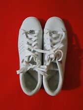 MARC ECKO RED RHINO PHRANZ WHITE SNEAKERS WHITE/SILVER LEATHER Sz 10 - Sequins