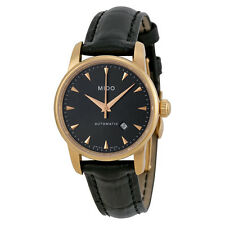 Mido Baroncelli Jubilee Automatic Grey Dial Black Leather Ladies Watch M76003134