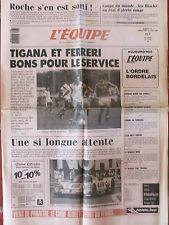 L'Equipe du 13-14/6/1987 - Rugby : au Mondial, les Blacks.. - Tigana et Ferreri.