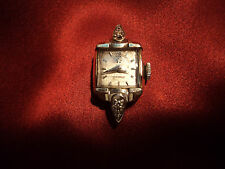 Vintage 14K White gold  Omega lady's watch working   Needs band