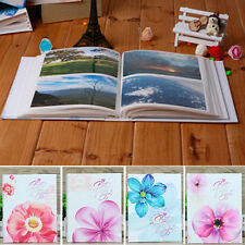 "Flowers Photo Album Holds 200  Large Memories  Photos 4'' x 6"" for Gift -200PP"