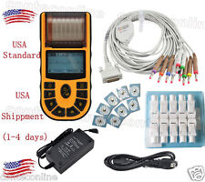 【USA shipment】Hand-held ECG/EKG machine Electrocardiograph +PC Software---ECG80A