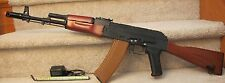 Full Metal, Real Wood AK74S Electric Airsoft Gun Shoot 350-400 FPS