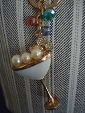 FABULOUS MARTINI /CHAMPAGNE /MARGARITA GLASS WITH BLINGS & CRYSTALS KEY CHAIN L3