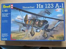 Revell Henschel Hs 123 A-1 in 1:48 scale.