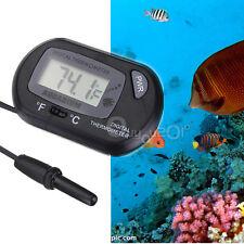 Termómetro Digital LCD Agua Mar Acuario Pecera Terrario Fahrenheit/Celsius Mode