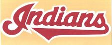 """HUGE CLEVELAND INDIANS IRON-ON PATCH - 5"""" x 11.5"""""""