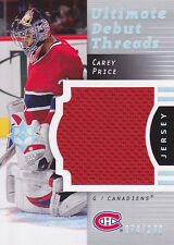 07-08 Ultimate Debut Threads  #DT-CP Carey Price RC 074/200
