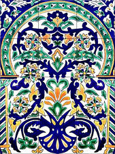 Morrocan Artistic Tile Mural Decorative Back Splash Ceramic Mediterranean